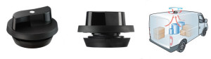 Flettner 2000 Black Roof Vent