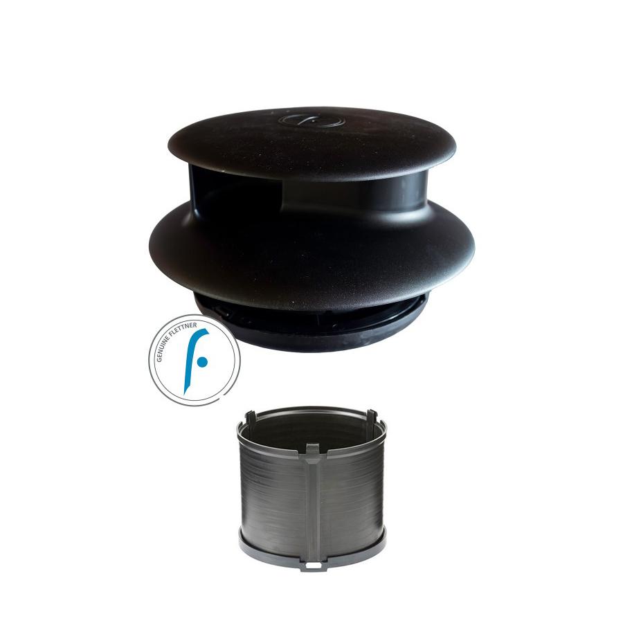 Flettner Tcx 2 Black With Adaptor Wind Driven Van Roof