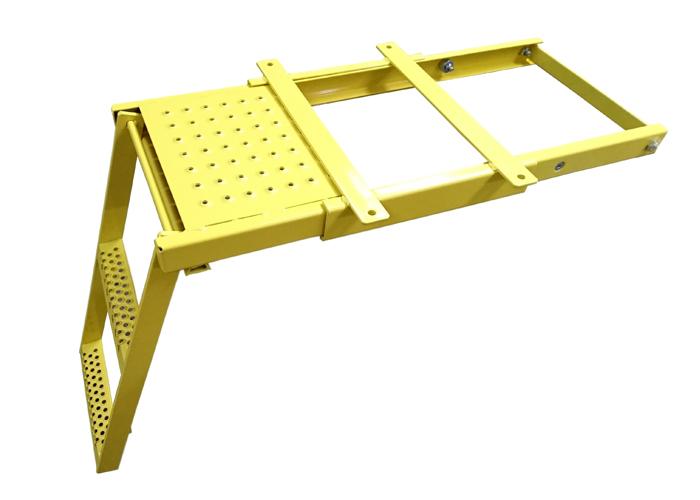 Yellow Underfloor Pull Slide Out Step 3rung Trailer Truck