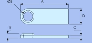 Aluminium Eyeplate