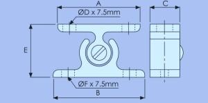 nylon door retainer
