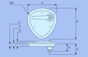 sunk pan dish handle