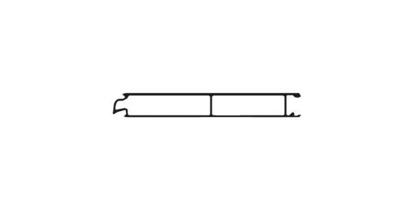 "Aluminium Middle Plank 8"""