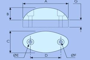 Oval Rubber Buffer